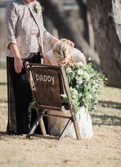 if someone you love passed away before your wedding, this is a great idea to honor the person