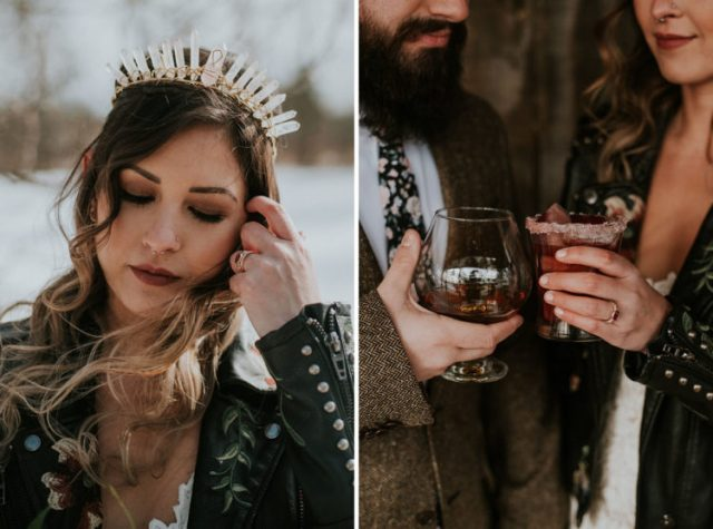 What a fantastic wedding shoot with a boho chic feel