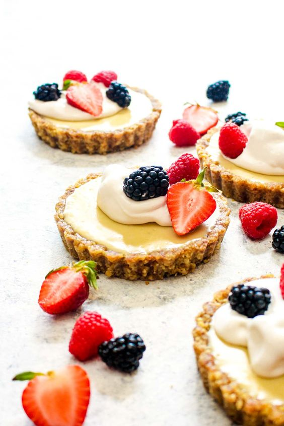 white chocolate lemon cream tarts are healthy, vegan, paleo and gluten-free and you'll totally enjoy the taste