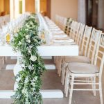 Picture Of The Wedding Table Runners Were Lush And Extra Long To Add Chic To The Reception