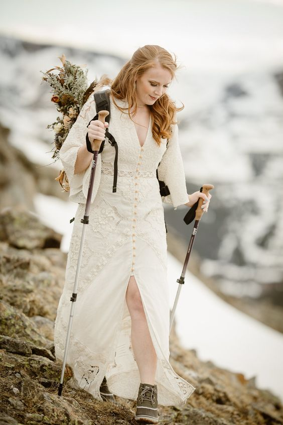 prepare comfy shoes or boots that are proper for your elopement, later you may swap them for another pair