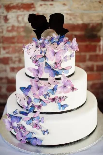 25 Awesome Wedding Cakes With Butterflies Weddingomania
