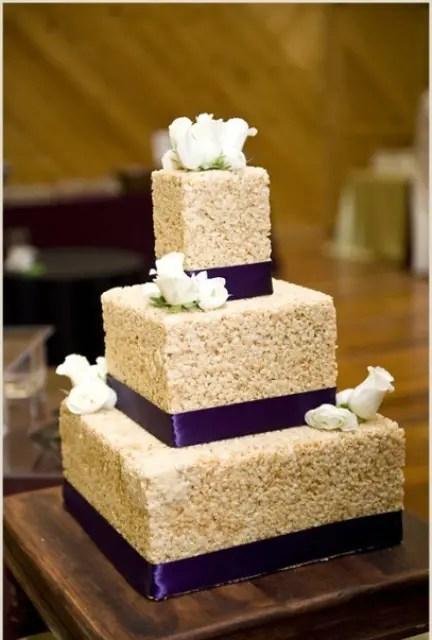 25 Tasty And Easy To Make Rice Krispie Wedding Cakes  Weddingomania