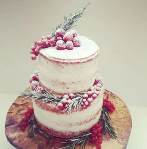25 Winter Wedding Cakes Decorated With Berries  Weddingomania