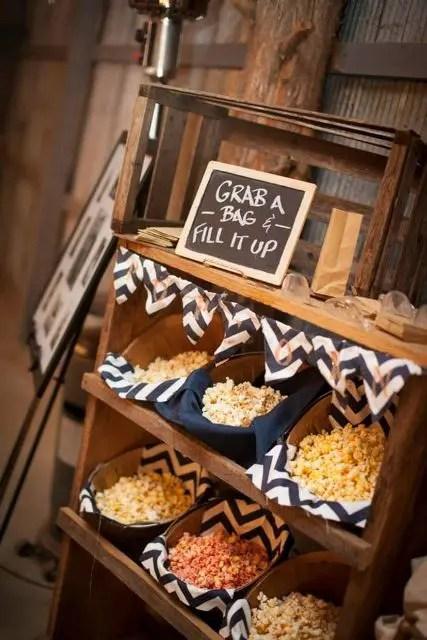 26 Exciting Popcorn Bar Ideas For Your Wedding  Weddingomania