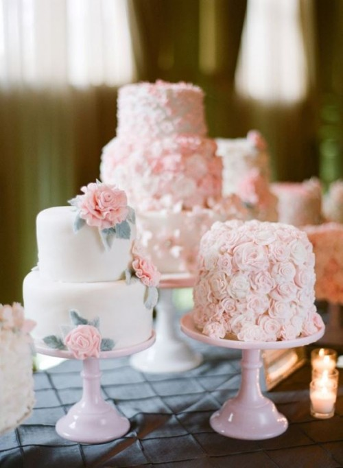 27 Charming Individual Wedding Cakes Weddingomania