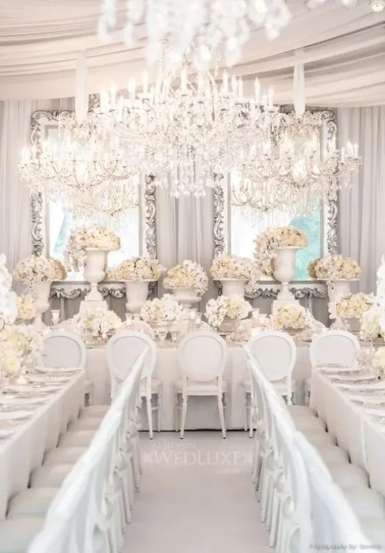 Picture Of Glamorous Chandeliers Wedding Decor Ideas 9