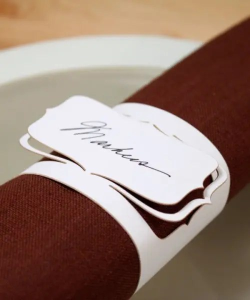 30 Creative Napkin Rings Ideas As Pretty Wedding Table