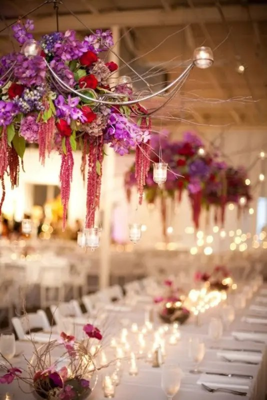 Picture Of gorgeous hanging flowers decor ideas overhead