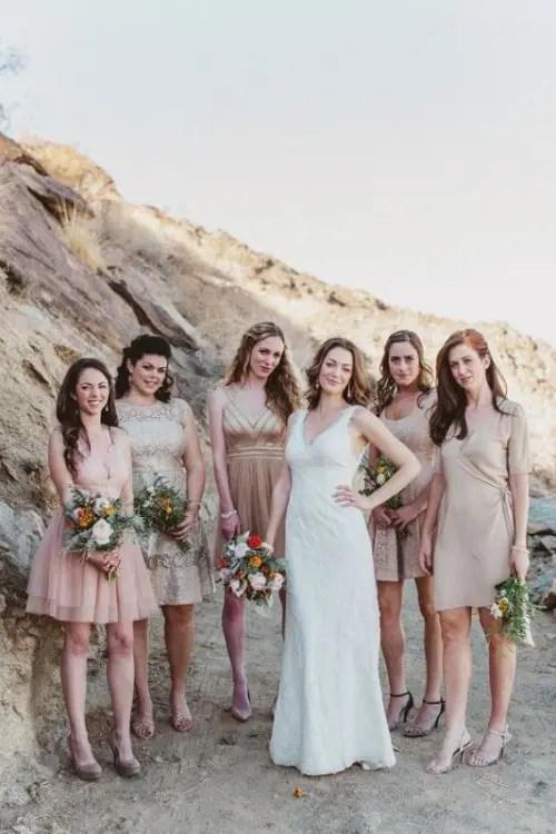 Fall Match Colors Bridesmaids Mix