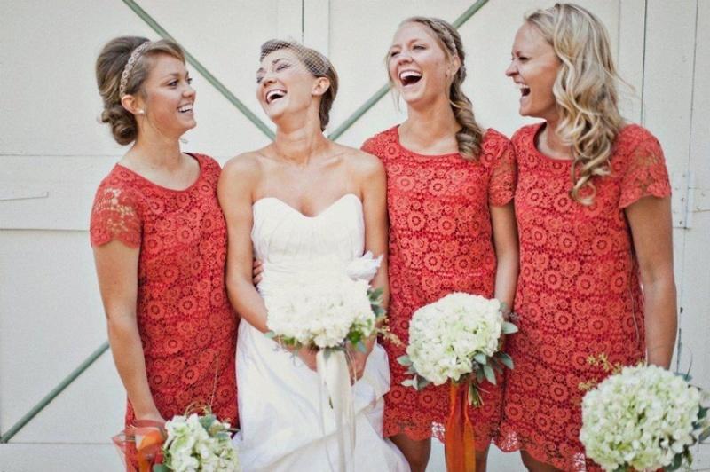 Picture Of Pretty Lace Bridesmaids Dresses Ideas