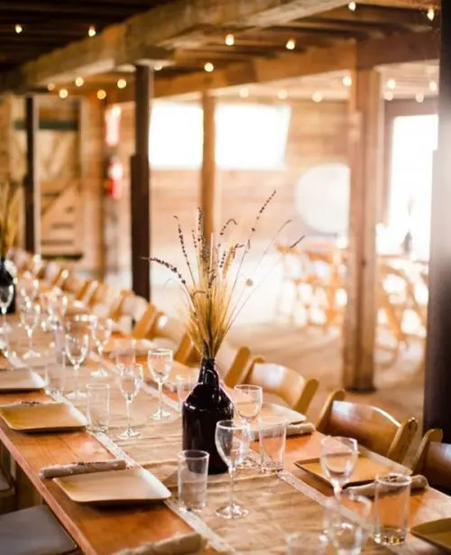 33 Wheat Decor Ideas For A Rustic Country Wedding  Weddingomania