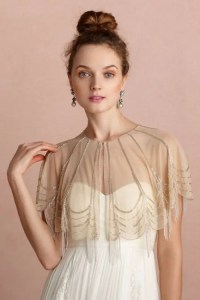 35 Beautiful Cover Ups, Shawls And Capes For Autumn Brides ...