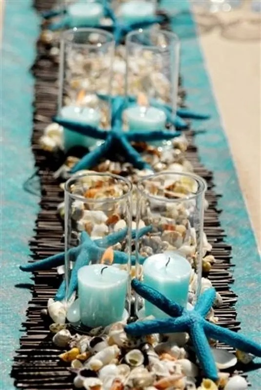 Pretty Easy Table Decorating Ideas With Rectangle Shape Dining White Blue Colors Tablecloth And
