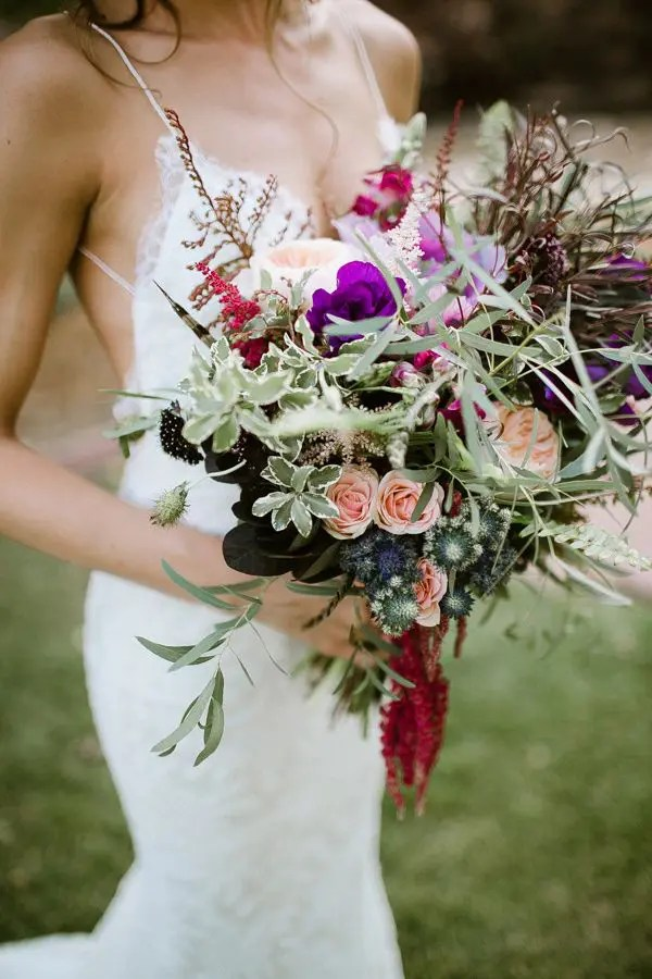 Picture Of dreamy and relaxed boho wedding bouquets 8