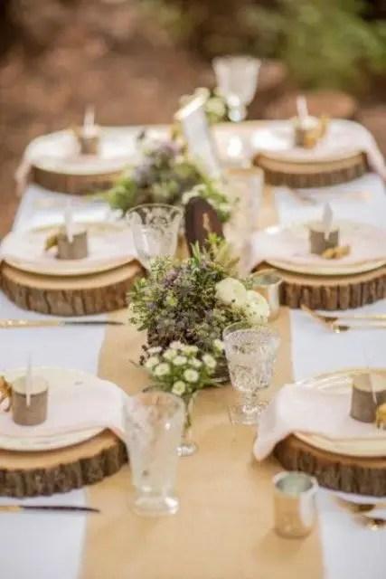 35 Dreamy Woodland Wedding Table Dcor Ideas Weddingomania