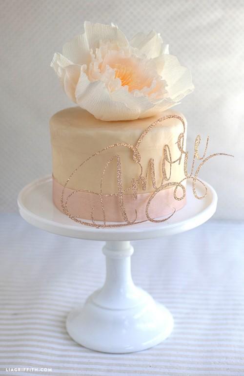 17 Easy And Beautiful DIY Wedding Cake Toppers Weddingomania