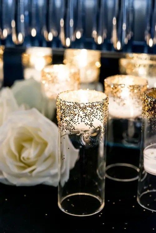 and gold wedding table decorations