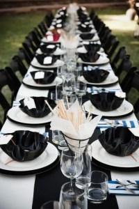 52 Elegant Black And White Wedding Table Settings ...