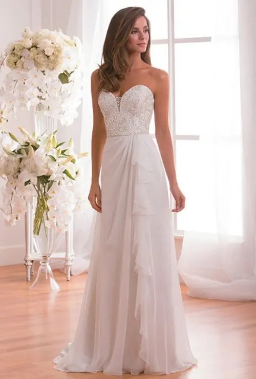 Enchanting Classics 35 Most Gorgeous Strapless Wedding