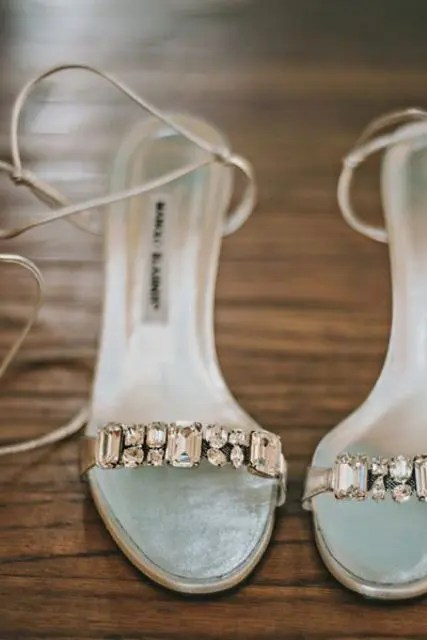 30 Gorgeous Jeweled Wedding Shoes To Get Inspired