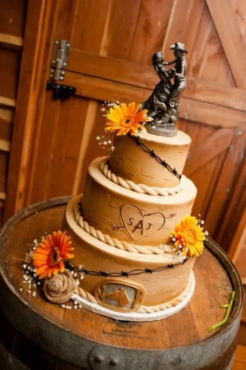 35 Lovely RusticInspired Country Wedding Cakes