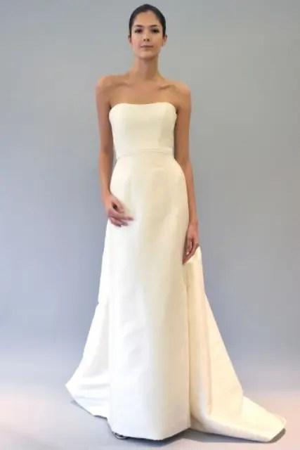 Luxury Of Simplicity 31 Minimal And Elegant Wedding Dresses Weddingomania