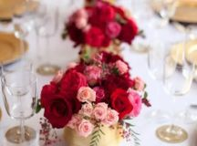 Picture Of Red Pink And Sparkle Gold Wedding Color Palette ...