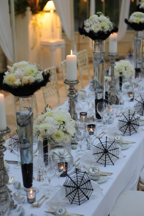 41 Spooky But Elegant Halloween Wedding Table Settings