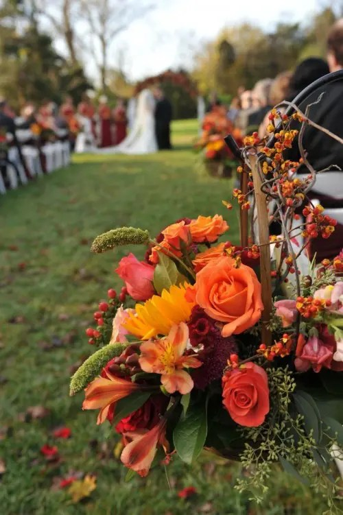 37 Stunning Fall Wedding Aisle Dcor Ideas  Weddingomania