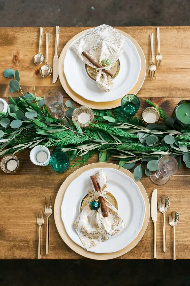 Picture Of stunning greenery wedding table runners 24