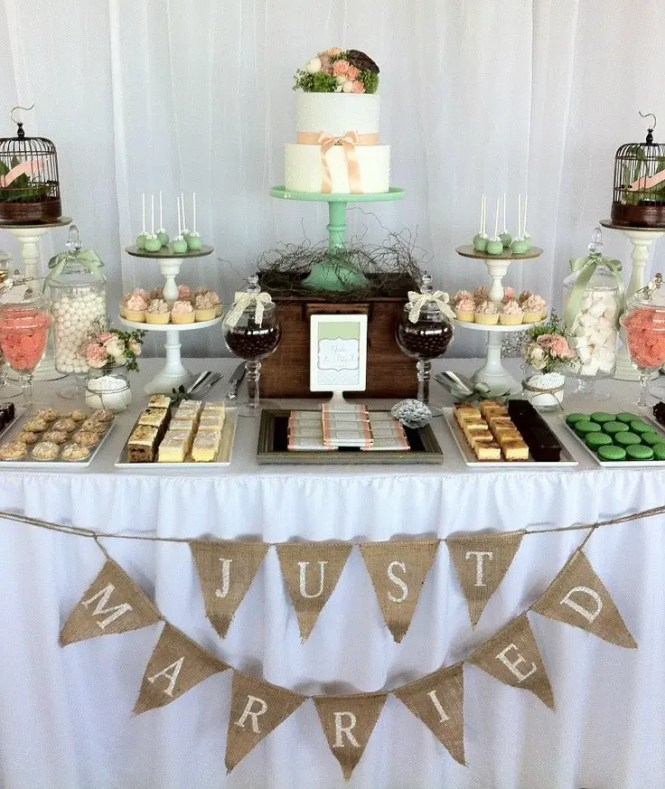 Christmas Wedding Dessert Table Ideas