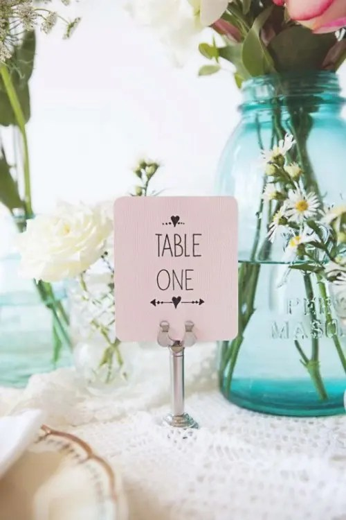 Sweet And Romantic Pastel Vintage Wedding Table Setting