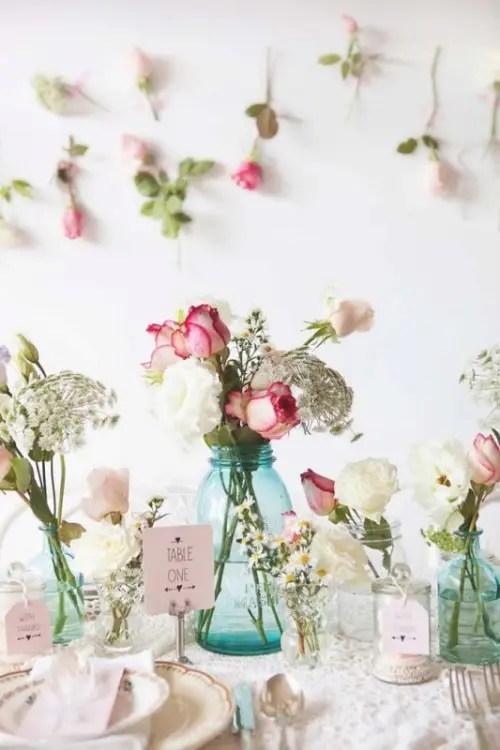 Sweet And Romantic Pastel Vintage Wedding Table Setting Weddingomania