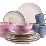 Maser Geschirr Set Keramik Ossia 16 Farbe Bunt Grau Weltbild De