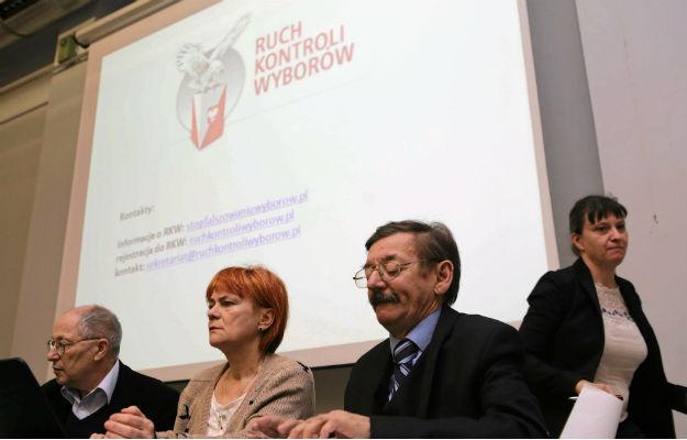 (od lewej) Józef Orzeł, Dorota Kania, Jerzy Targalski i Ewa Stankiewicz