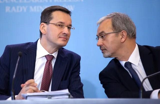 Premier Mateusz Morawiecki i minister finansów Jerzy Kwieciński.