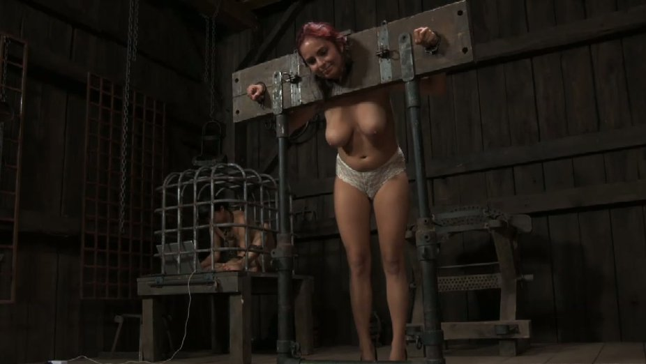Sympathise with girl locked in stocks porn rather