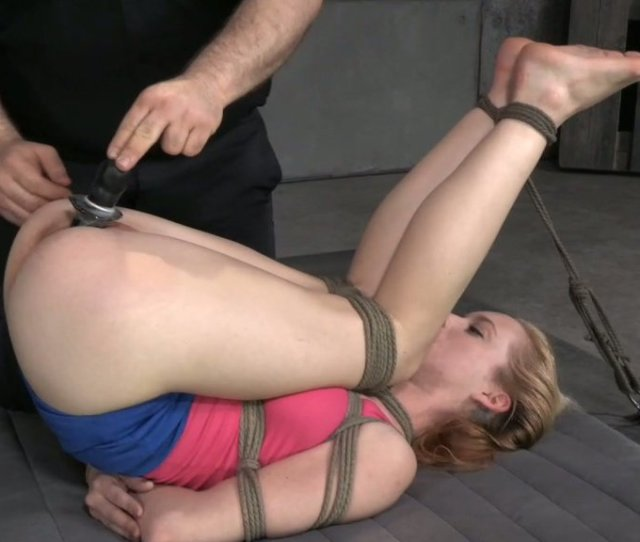 Tied Up Fair Haired Girlie Jeze Belle Had Hard Bdsm Session With Her Freak