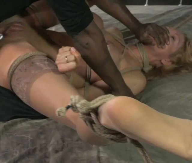 Insatiable Tied Up Blondie Rain Degrey Adores Hard Bdsm Anal With Matt Williams And Jack Hammer