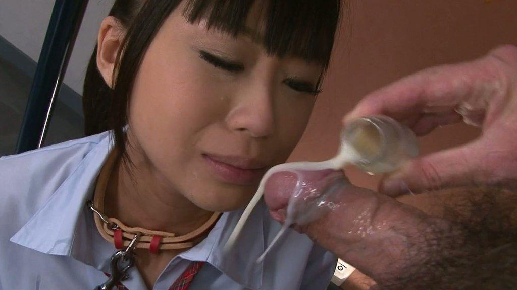 Poor Japanese college girl Chika Ishihara eats food and