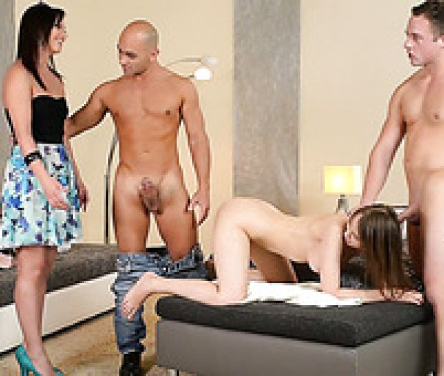 Two Beautiful Couples Switch Their Partners And Fuck In Foursome