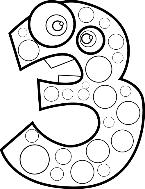 small resolution of clipart animal number three lineart