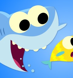 baby shark png clip art super simple songs [ 1080 x 740 Pixel ]
