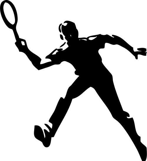 small resolution of clipart tennis player