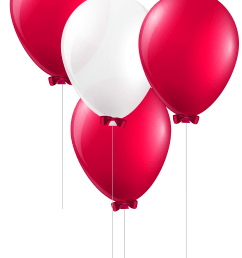 balloon clipart magenta red and white balloons [ 4054 x 6156 Pixel ]