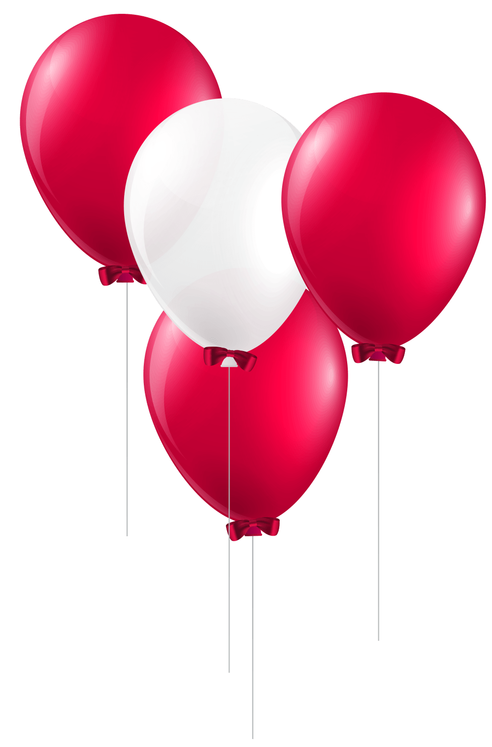 medium resolution of balloon clipart magenta red and white balloons