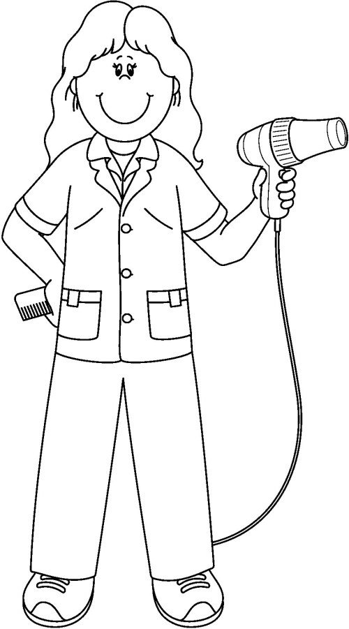 small resolution of barber clipart community helper coloring pages jennymorgan me