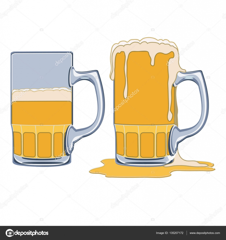 medium resolution of beer clipart overflowing cup glass half full empty
