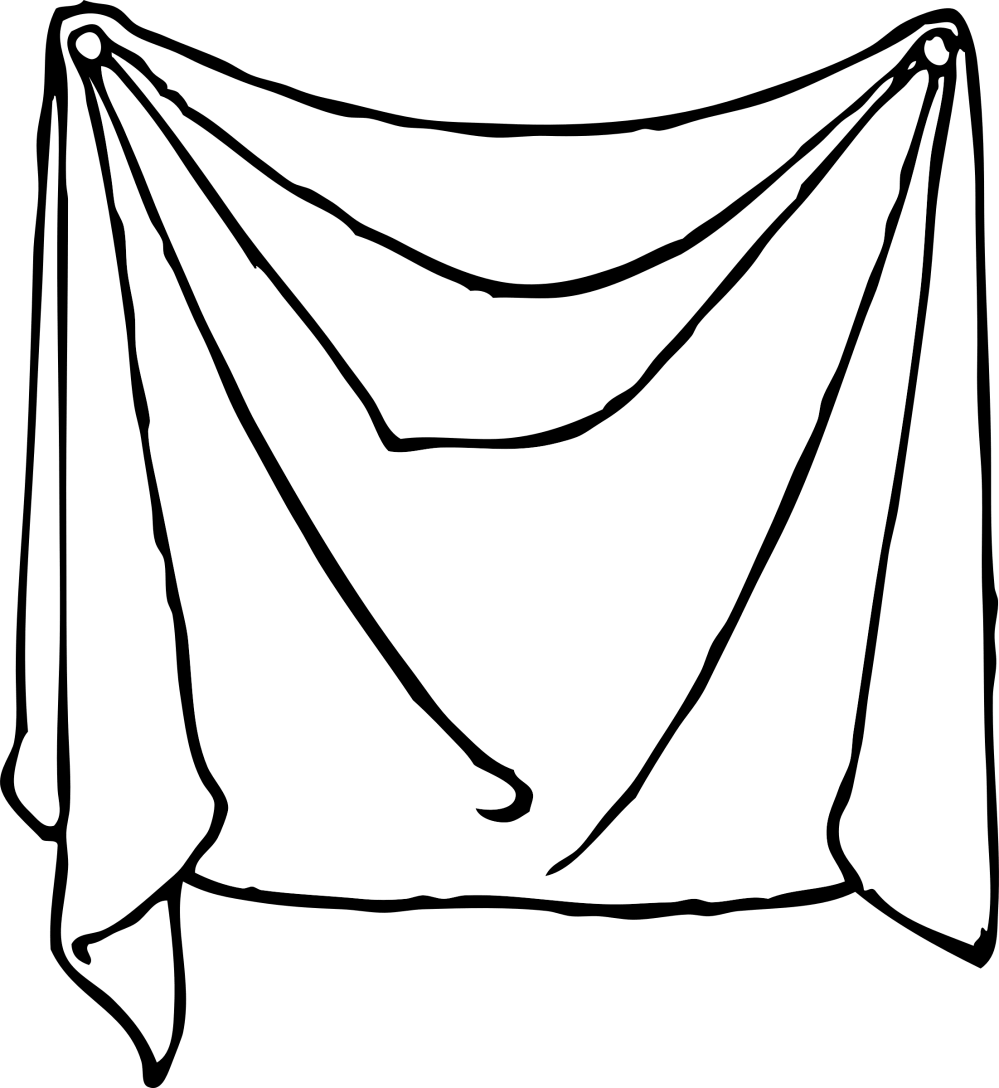 medium resolution of drawing bed black and white draped sheet icons png